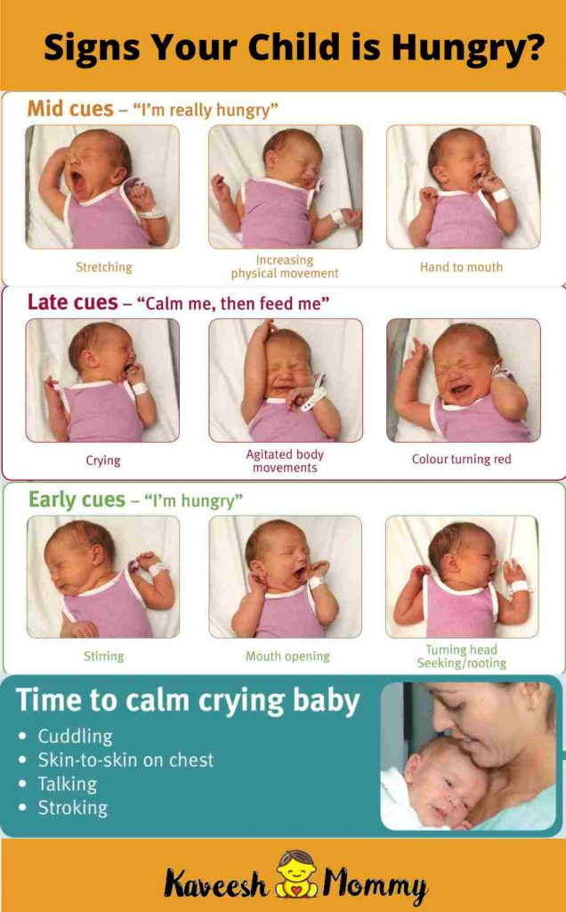 signs that your baby is hungry